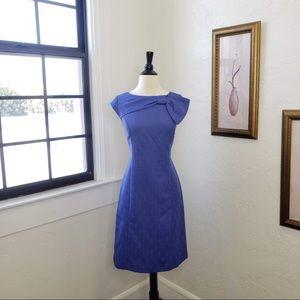 Vintage R&K Originals ~ Blue Printed Dress ~ Sz 8
